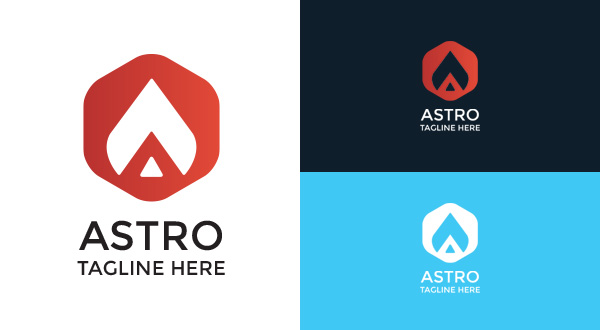 Astro A Letter Logo Logos Amp Graphics