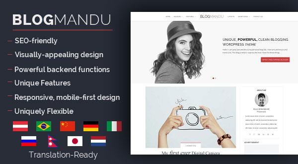 Blogmandu - Powerful & Clean WordPress Blog Theme