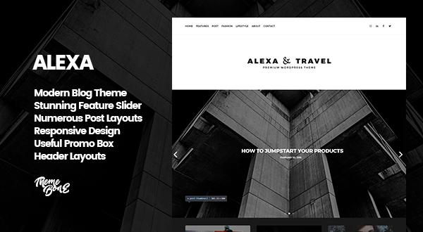 Alexa - Premium Blog Theme for WordPress Preview Image