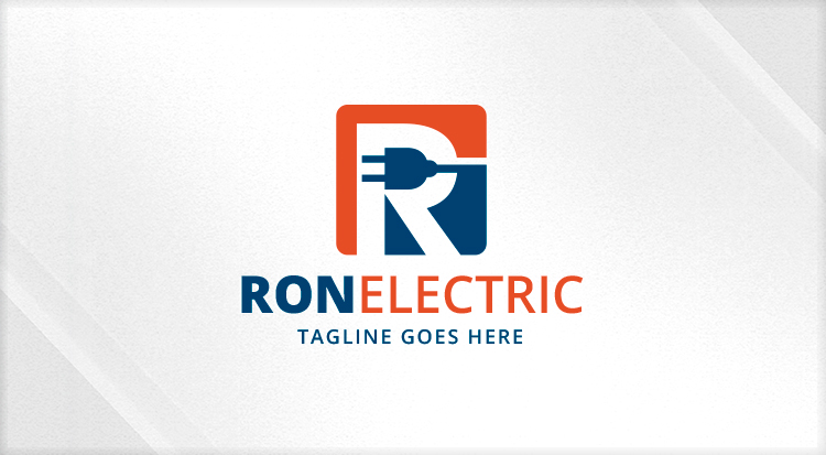 letter r electrical plug logo logos amp graphics