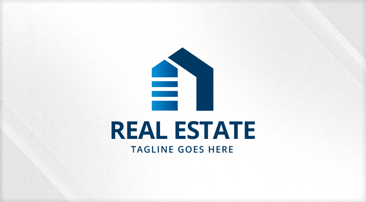 Simple home real estate logo logos graphics for Minimalist house logo