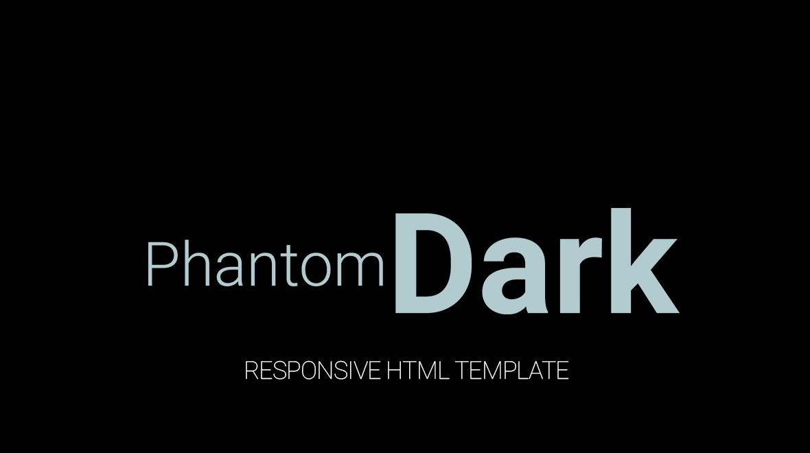 PhantomDark HTML Template Themes Amp Templates