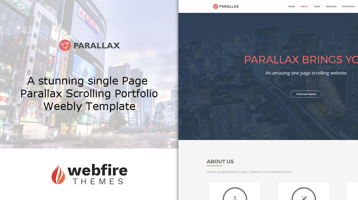 Parallax singe page scrolling parallax template themes for Free html5 parallax scrolling template