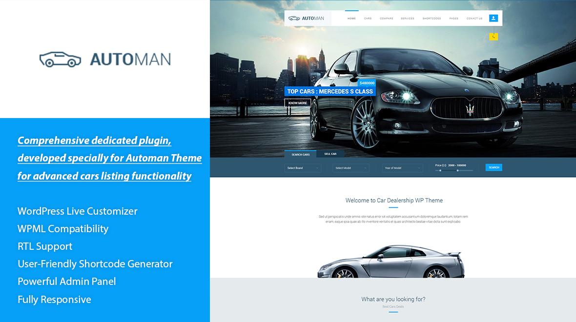 Automan WP - Advanced Car Dealer WordPress Theme - Themes & Templates
