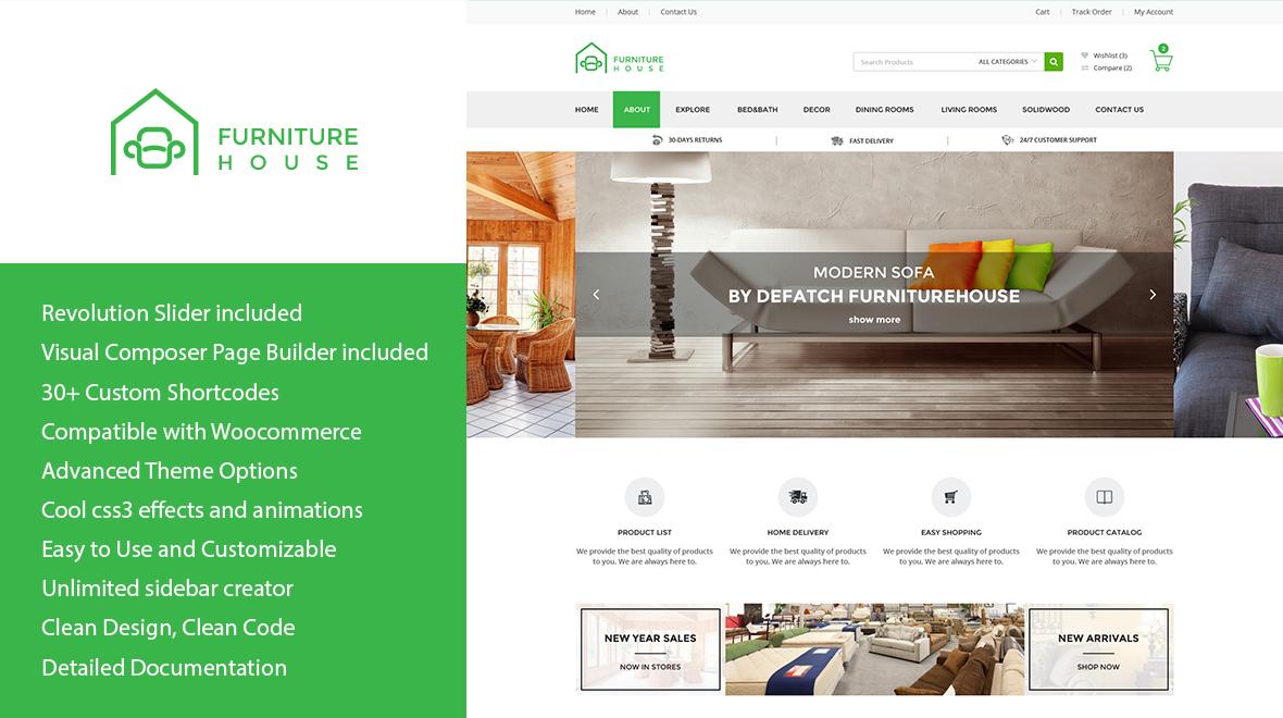 Furniture Wp Woocommerce Wordpress Theme Themes Templates