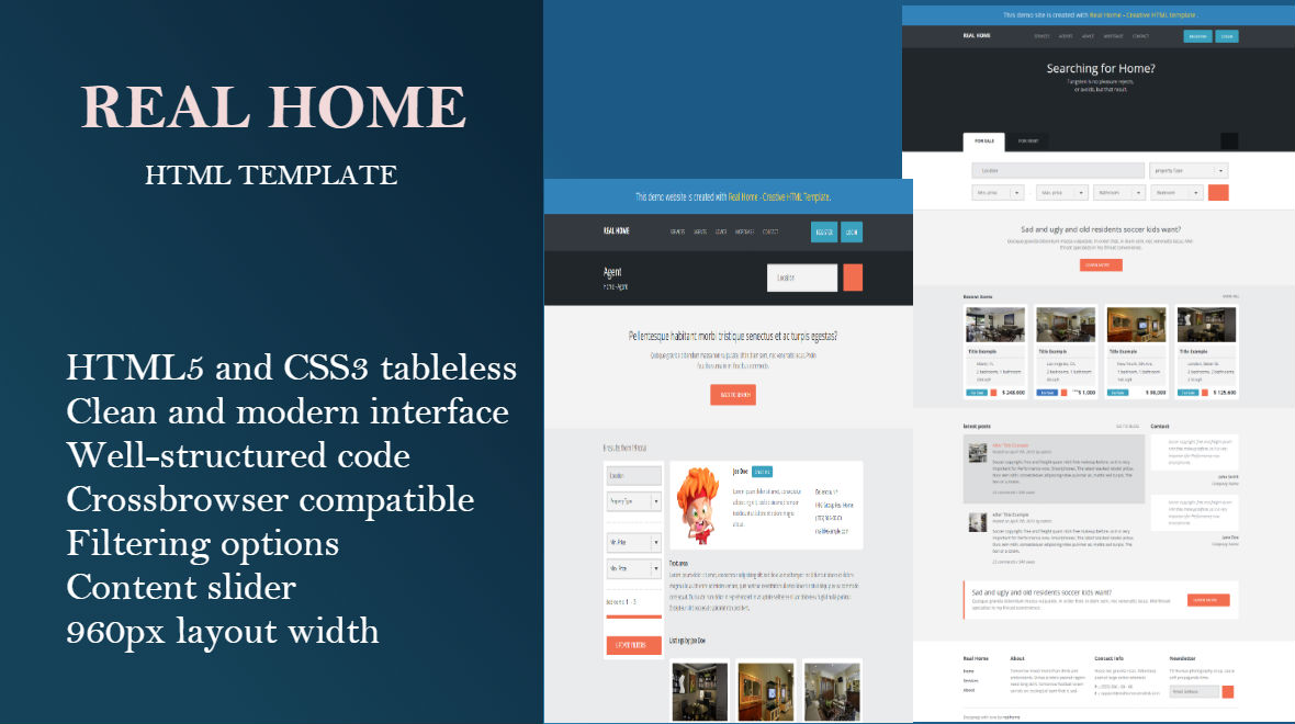 real home real estate html template themes templates