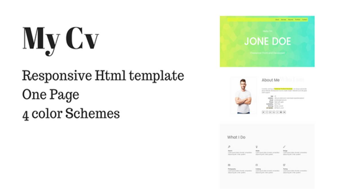 my cv   portfolio html template