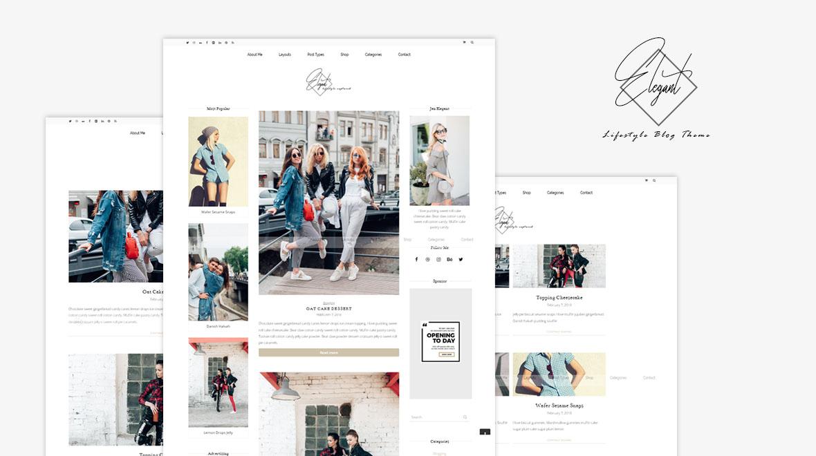 Elegant Blog - Modern Lifestyle Blogging theme - Themes & Templates