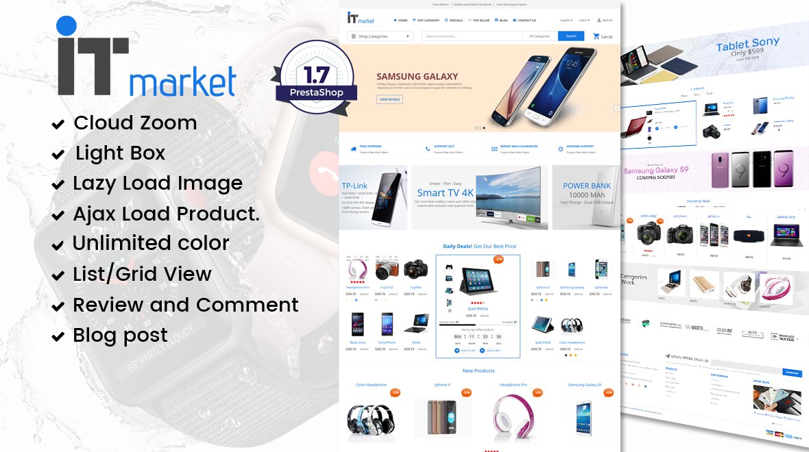 prestashop daily deals template