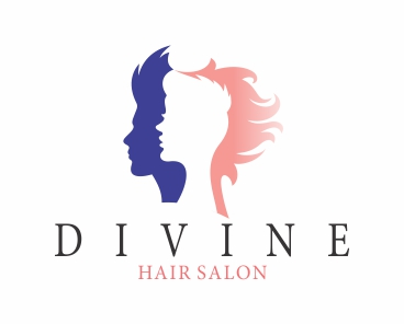 Divine hair salon logo logos graphics for K divine hair salon