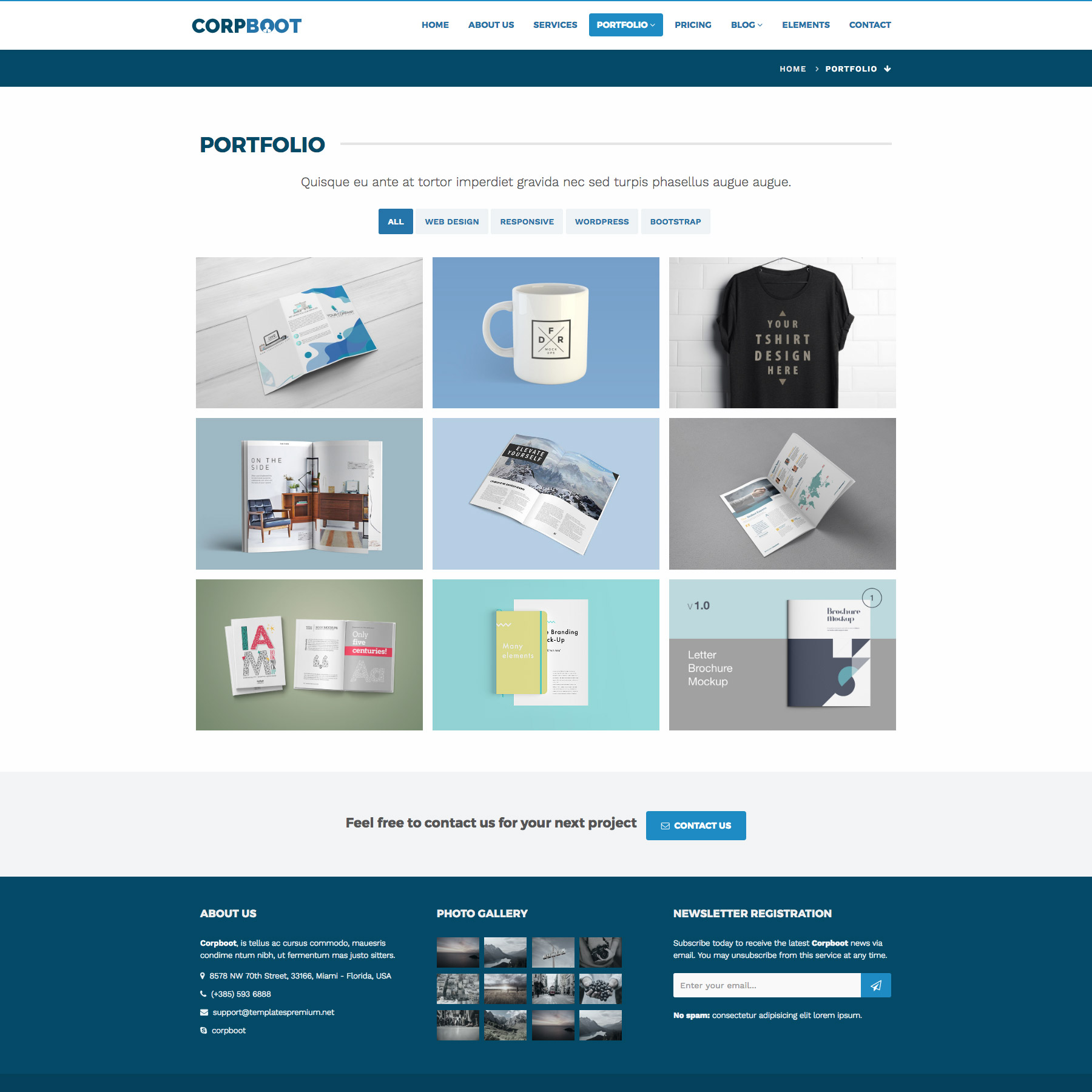corpboot corporate website template themes templates. Black Bedroom Furniture Sets. Home Design Ideas