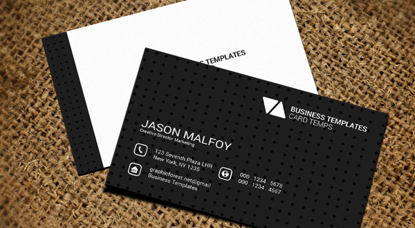 Individual business card template logos graphics for Single business card template