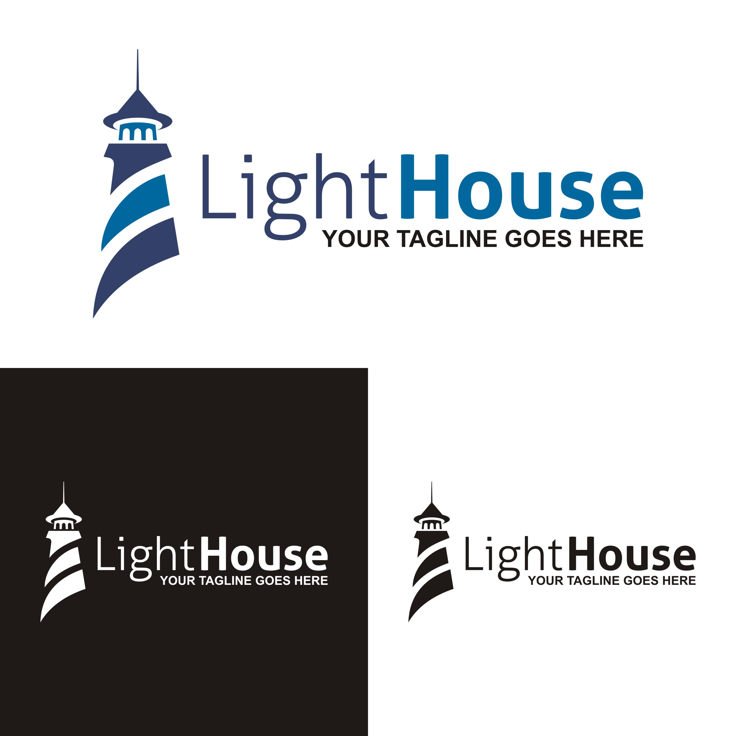 lighthouse logo design concept template  Download Free