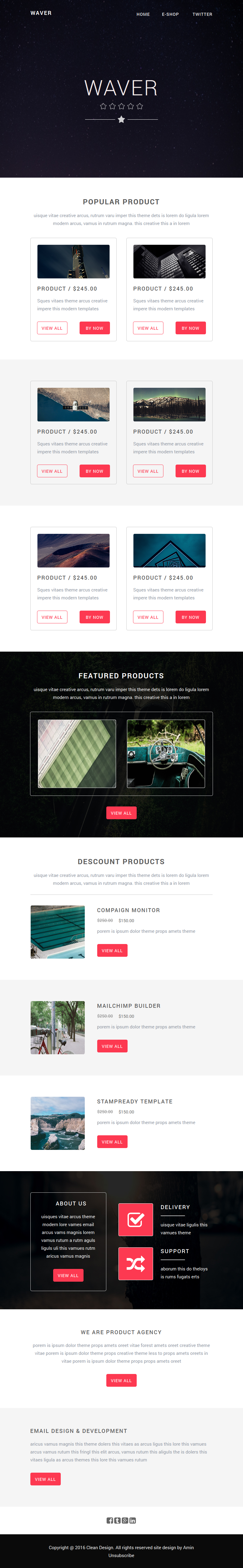 Waver ecommerce email template with builder themes for Yahoo ecommerce templates