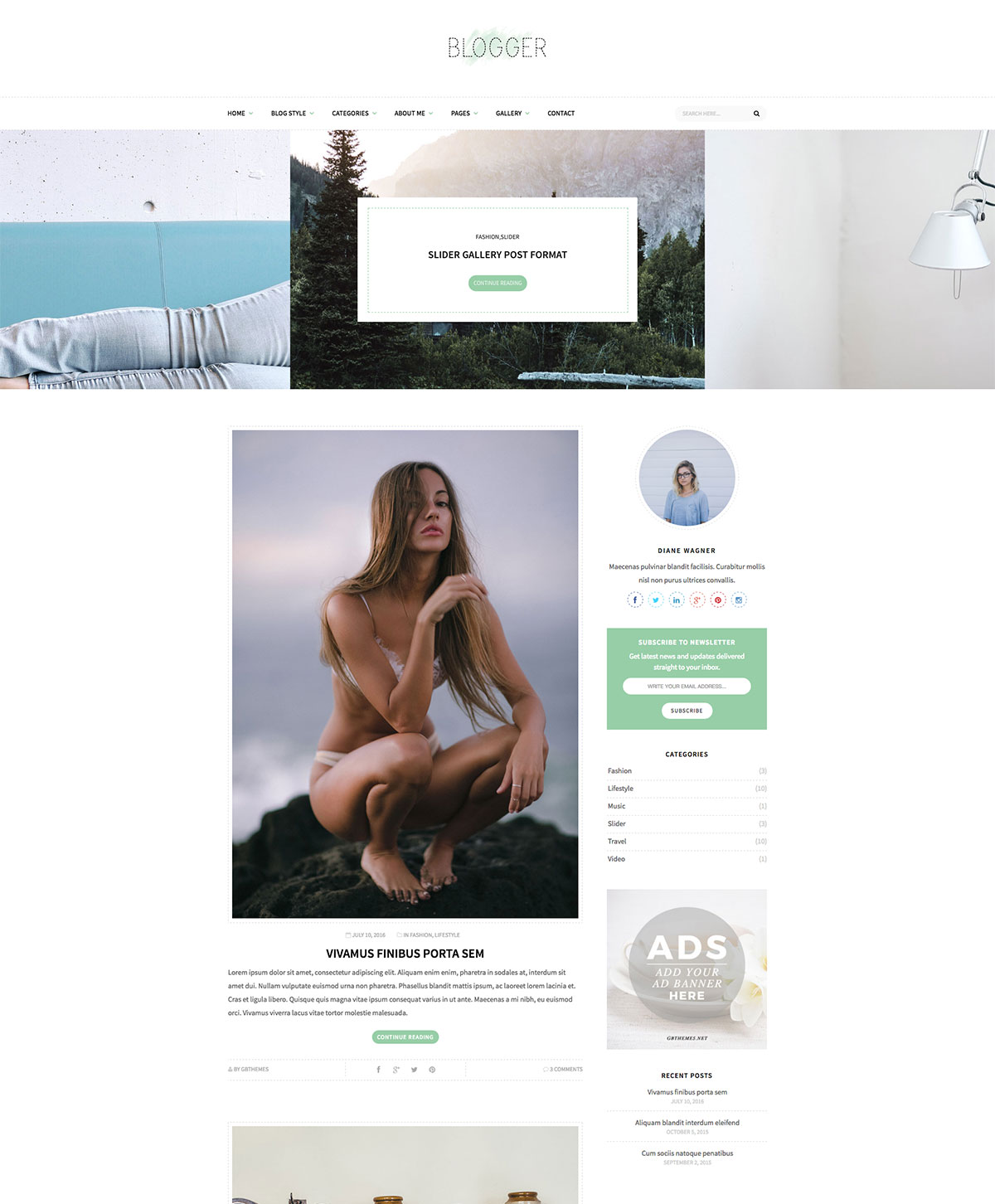 Blogger - Clean and Minimal WordPress Theme for Blog - Theme ...