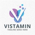 Vistamin - Letter V Logo