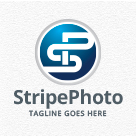 Stripe Photo - Letters SP/PS Logo