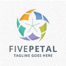 Five Petal - Flower Logo