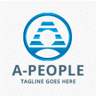 A People - Letter A Logo