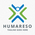 Humareso - People Logo