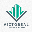 Victoreal - Building / Real Estate Logo