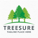 Treesure - Pines Tree Logo