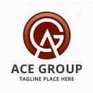 Ace Group - Letters AG/GA Logo