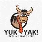 Yak Cartoon Logo