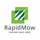Rapid Mowing - Lawn Care Logo