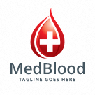 Medical Blood Donation Logo