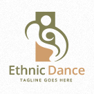 Ethnic Dance - Abstract People Logo