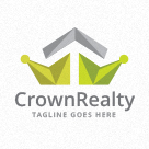 Crown Realty / Roofing Logo