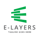 E-Layers - Abstract Letter E logo
