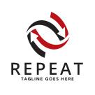 Repeat / Recycles Arrow Logo