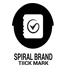 Spiral Tick Mark Logo (Four in One)
