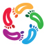 Colorful Foot Care Logo