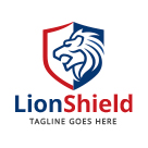 Lion Shield - Griffin Logo