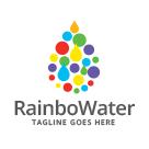 Rainbow Water Droplet Logo