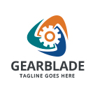 Gear Blade Logo Preview Image