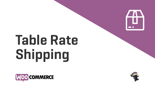 Table Rate Shipping - Shipping Module