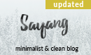 Sayang - Minimalist & Clean Wordpress Blog Theme