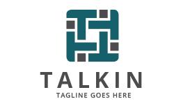 Talkin / T letter logo