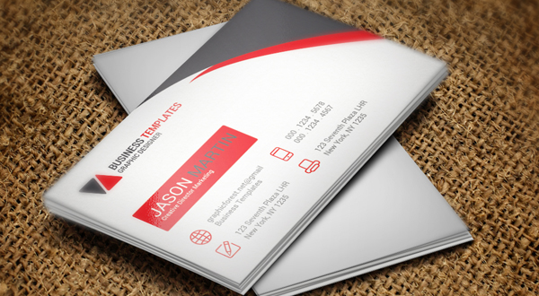 Modern White Business Card