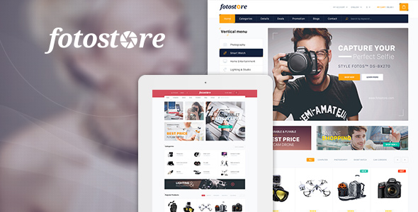 Pav FotoStore - Responsive Opencart Theme for Photo, Camera, Digital store