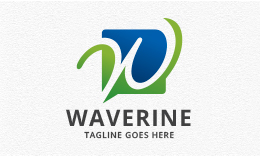 Waverine - Abstract Letter W Logo