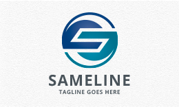 Sameline - abstract Letter S Logo