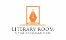 literary room pen logo
