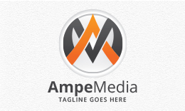 Ampe Media - Letters AM/MA Logo