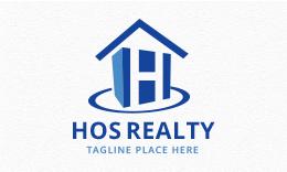 Hos Realty - Letter H Logo