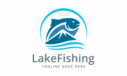 Lake Fishing Logo
